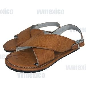 MENS LEATHER 2 STRAP MEXICAN SANDAL